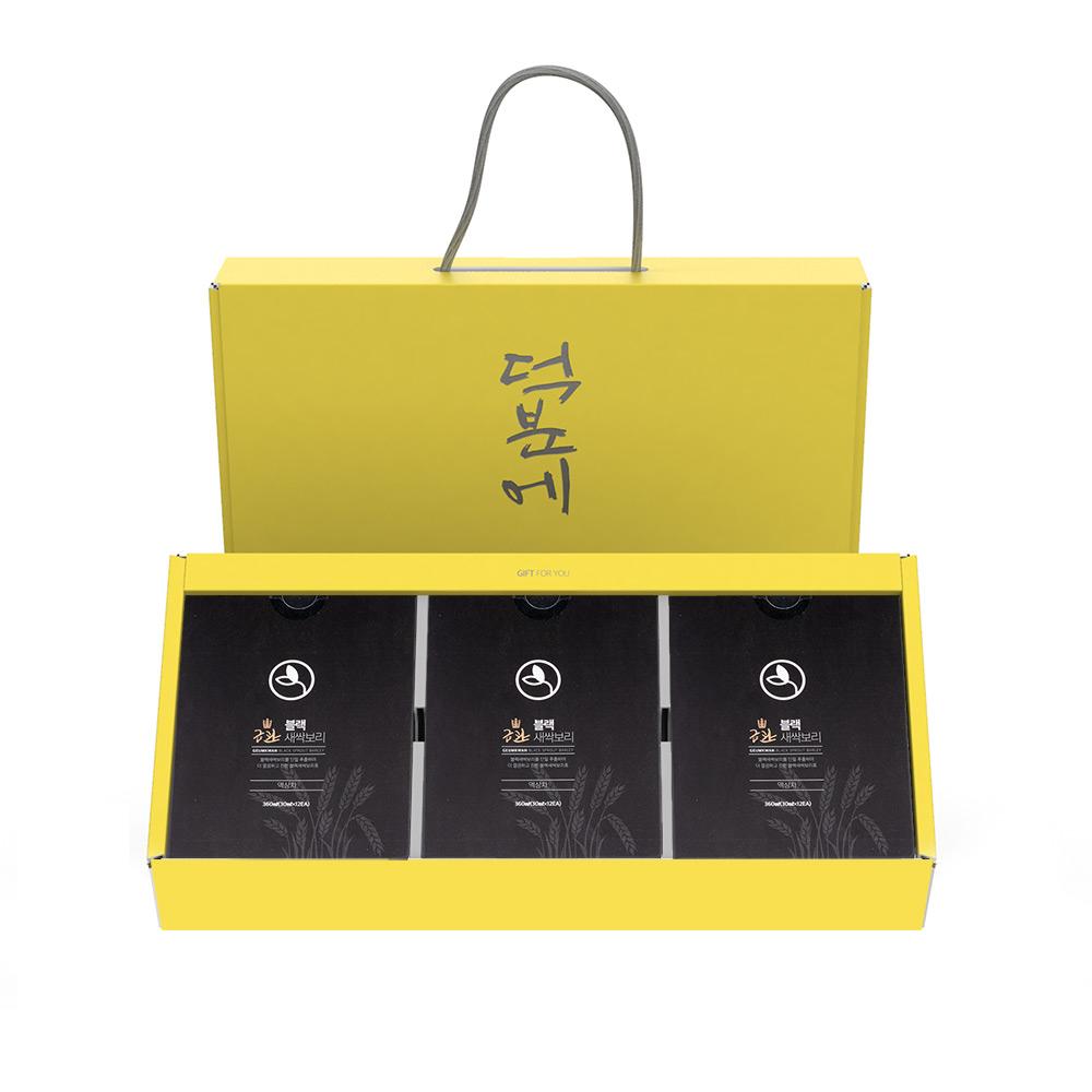 금관 블랙새싹보리 진액 파우치 12개입 x 3박스 선물세트