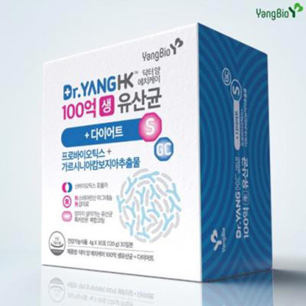 닥터양 에치케이 다이어트 100억 생 유산균 1박스 양병원 양바이오 가르시니아