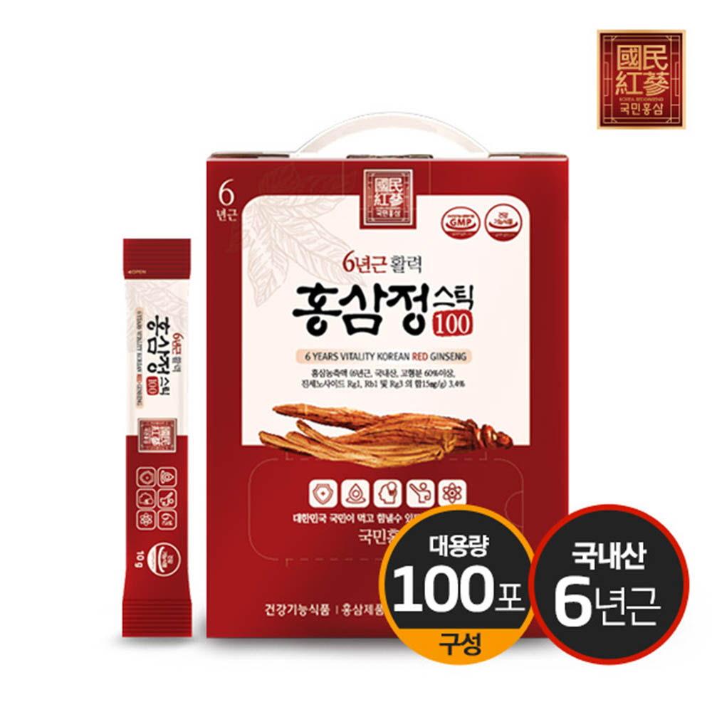 국민홍삼 6년근 활력홍삼정스틱100 10g x 100포