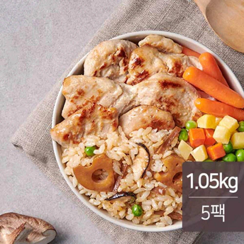 맛있닭 연근우엉밥 & 스팀 닭가슴살 마늘맛 210g * 5ea