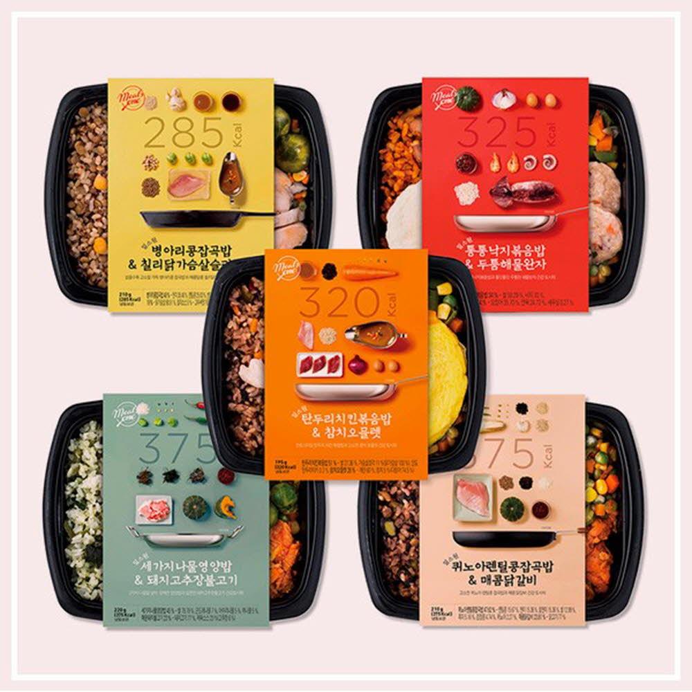 밀스원 다이어트 도시락(병아리콩,퀴노아,세가지나물,낙지,탄두리치킨)-2개씩 5종/10팩