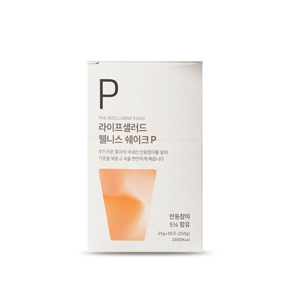 [라이프샐러드] 국내산 참마 웰니스쉐이크 파우치P(플레인) 25gx10포/식사대용 간편식/단백질보충