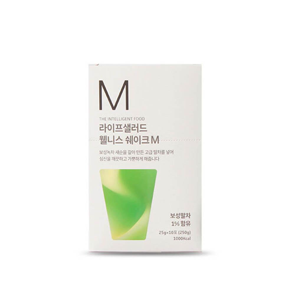 [라이프샐러드] 보성 녹차 웰니스쉐이크 파우치M(녹차) 25gx10포/식사대용 간편식/단백질보충