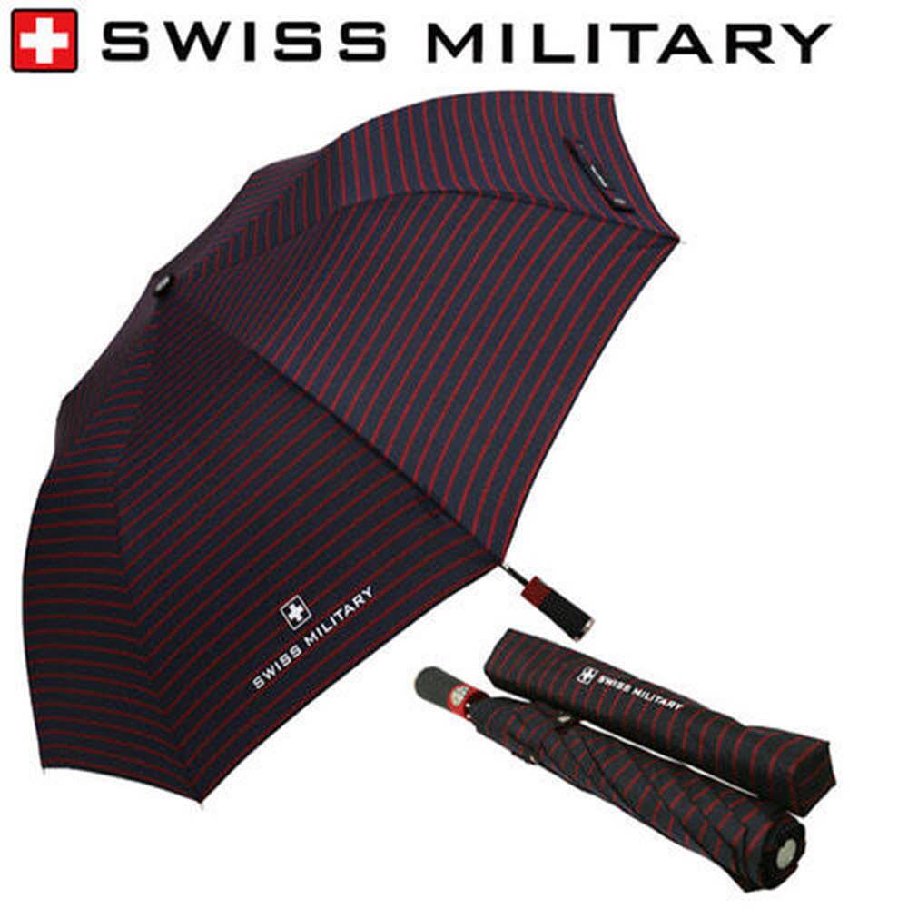 스위스밀리터리 2단 자동 레드스트라이프 우산