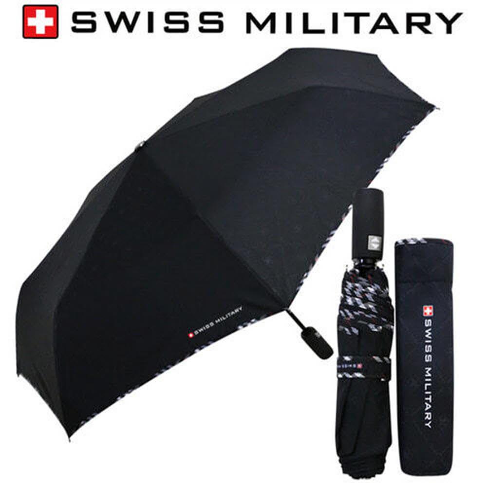 스위스밀리터리 3단7K완전자동 엠보선염바이어스 우산