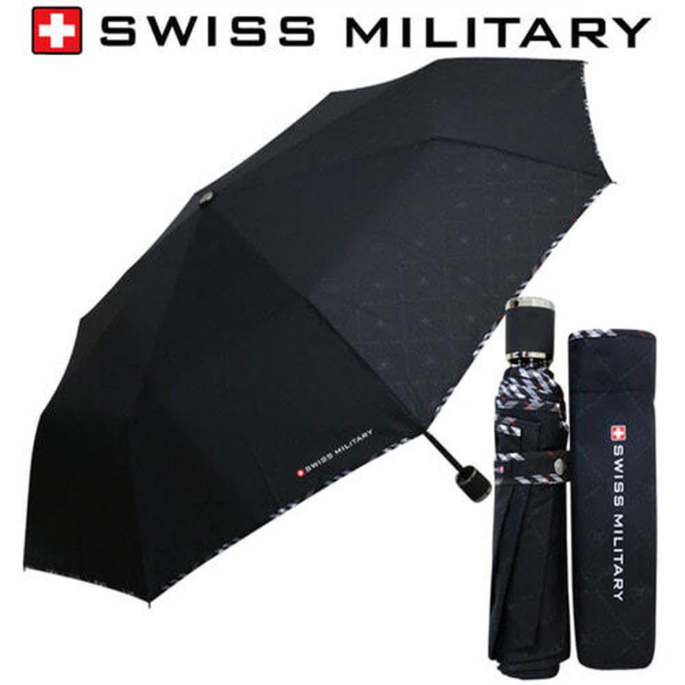 스위스밀리터리 3단수동 엠보선염바이어스 우산