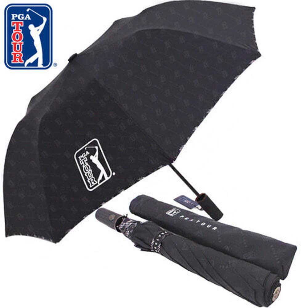 PGA 2단자동 엠보선염 바이어스 우산
