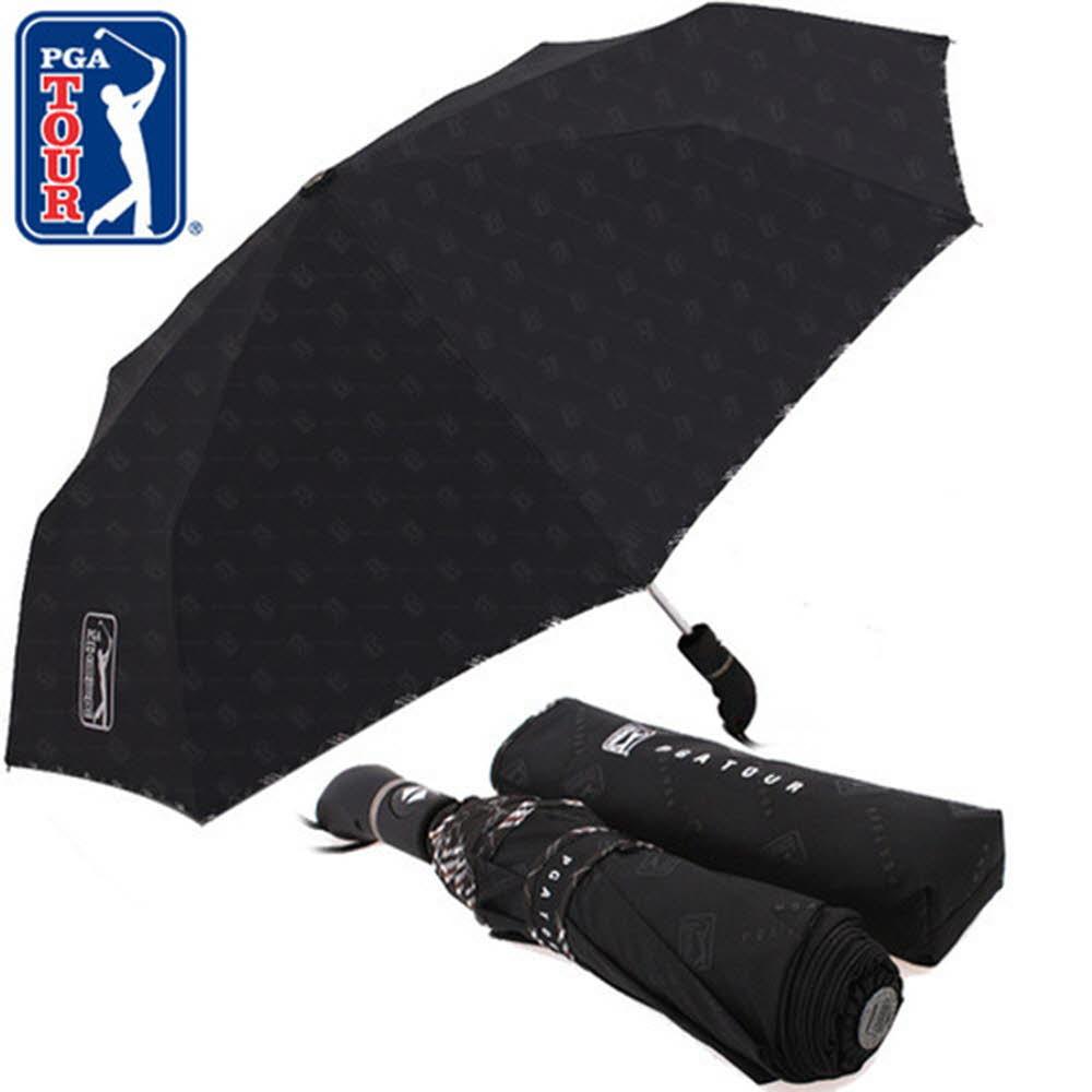 PGA 3단완전자동 엠보선염바이어스 우산