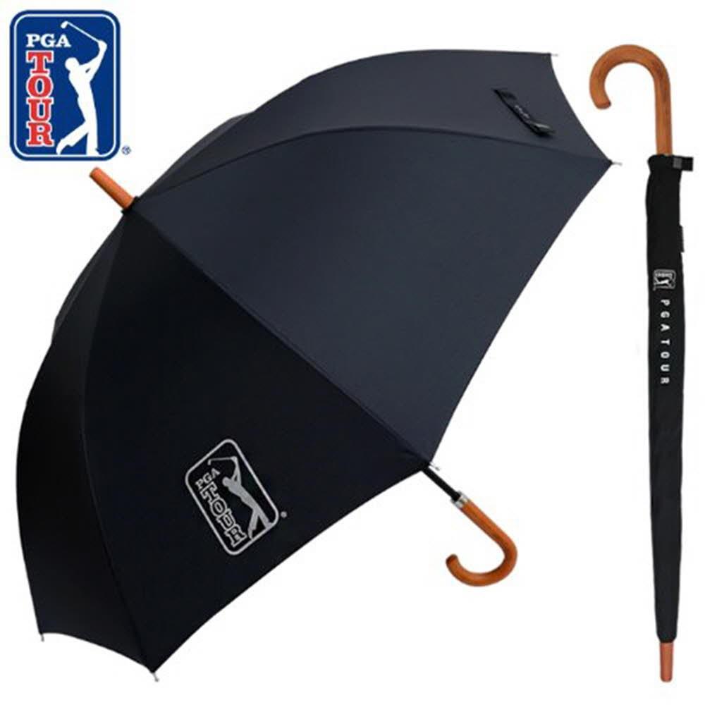 PGA 70수동 블랙우드핸들슬라이드 장우산