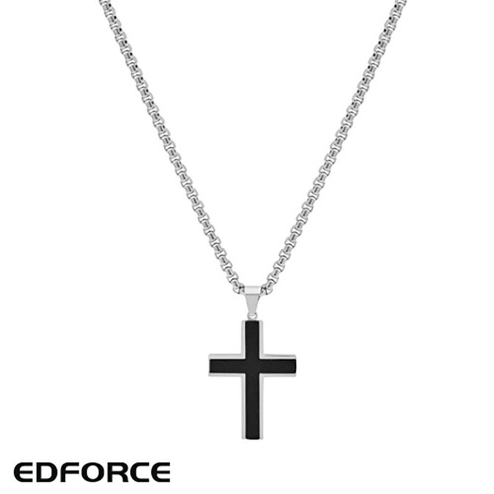[에디포스] 실버엣지 십자가 펜던트 목걸이 543-0008-N