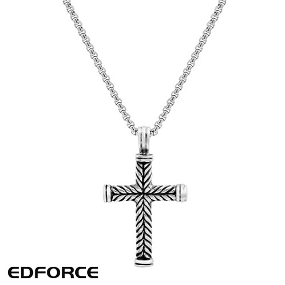 [에디포스] 빈티지 십자가 펜던트 목걸이 551-0002-N