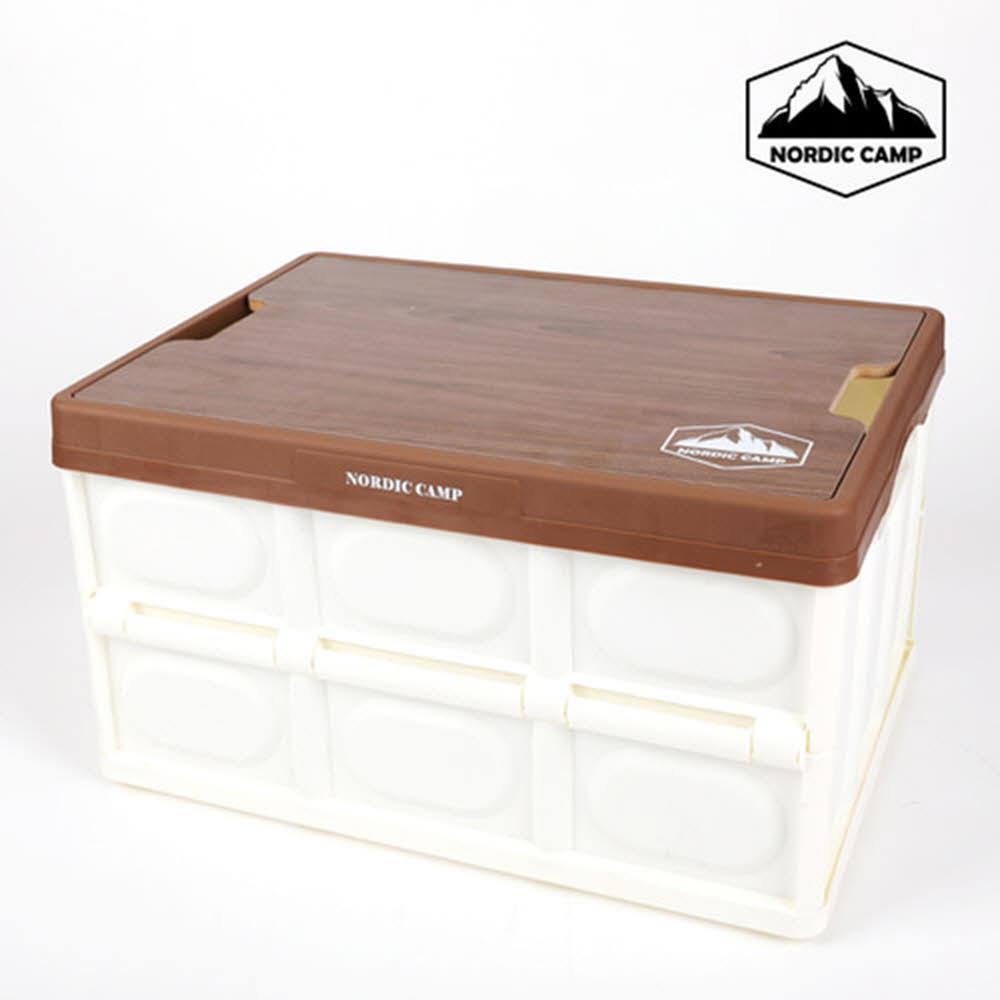 노드릭 캠핑 접이식 폴딩박스(우드상판)