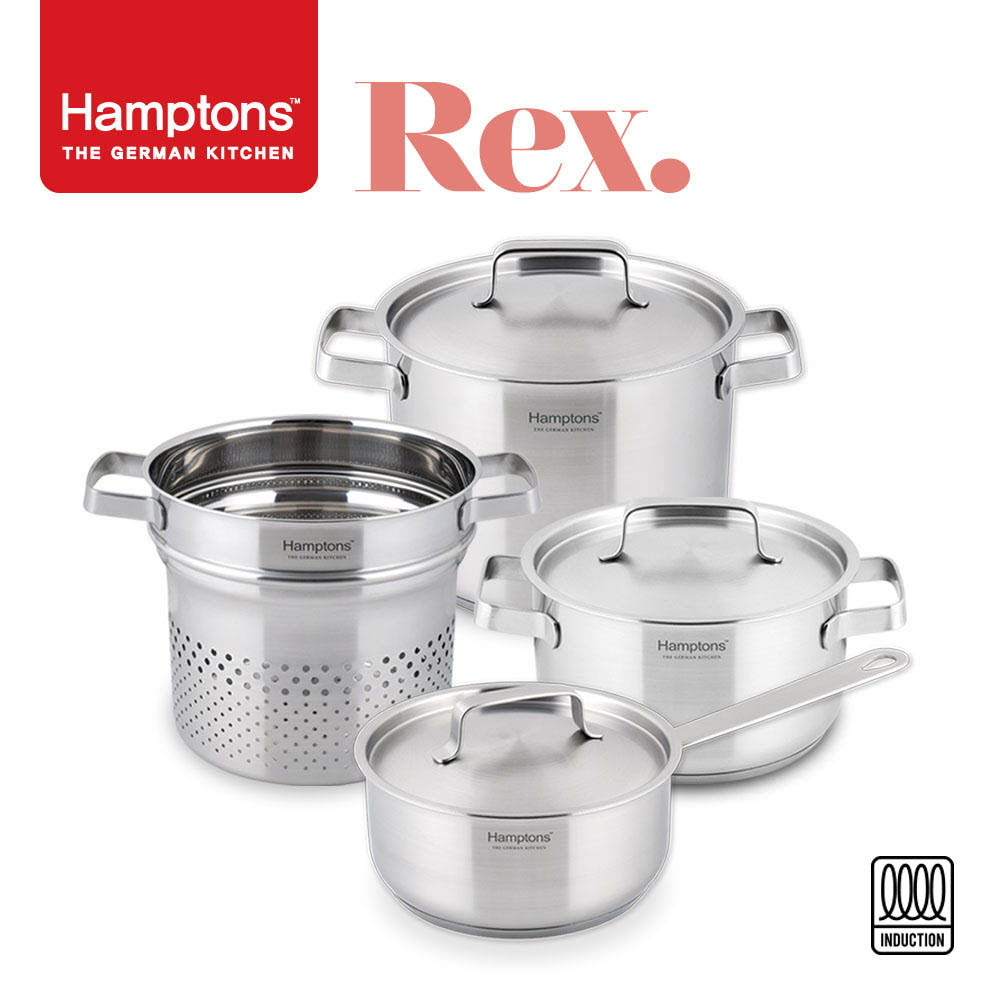 [Hamptons] 독일 햄튼 REX 3중 바닥 인덕션 냄비 3종C 7P