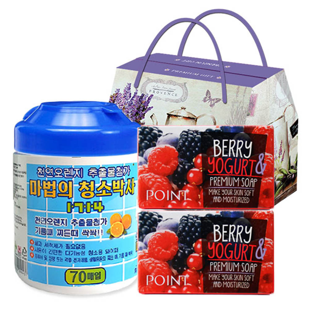 마법의청소박사원통형70매 애경포인트베리비누2P(3종)