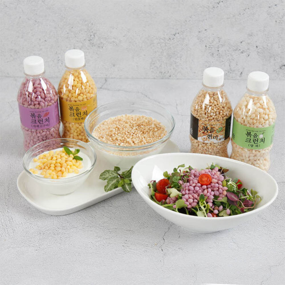 칼로리해방 볶음 크런치 4종세트(현미,단호박,자색고구마,양파)