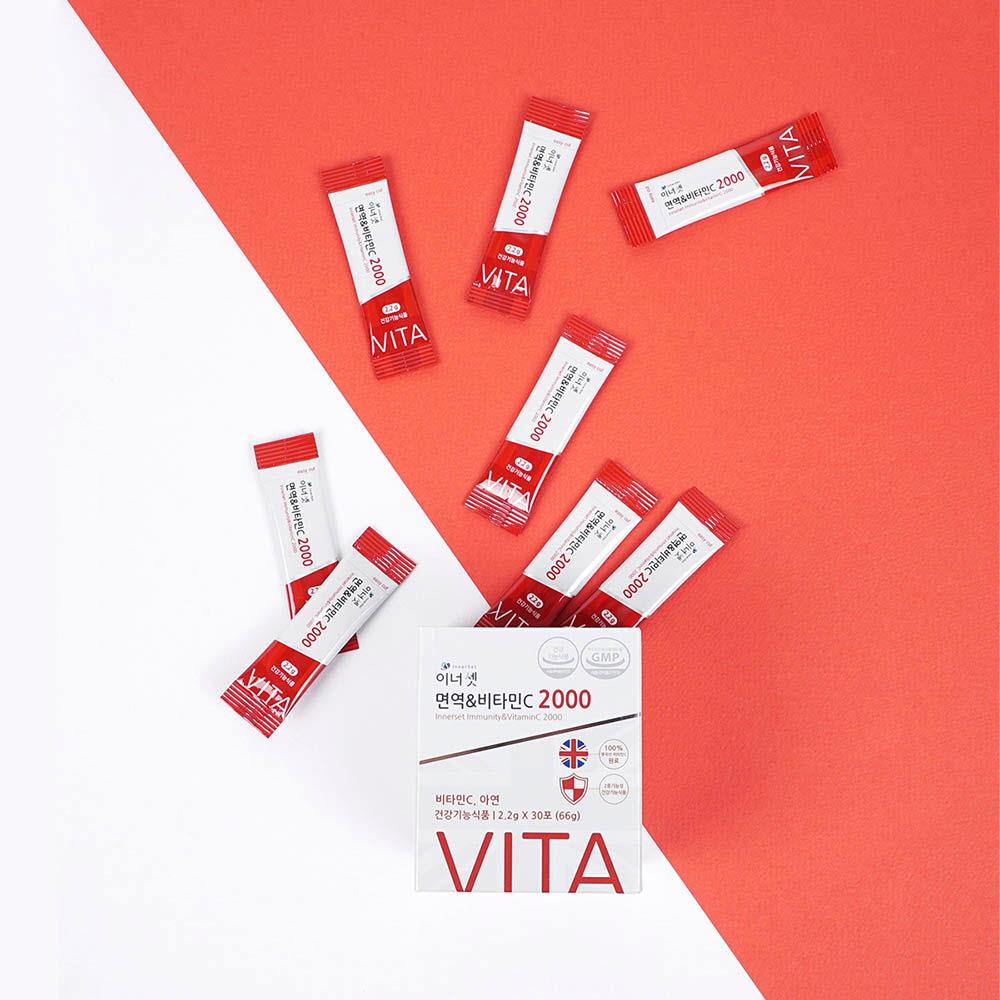 이너셋 면역 & 비타민C  2.2g * 30포 /1개월