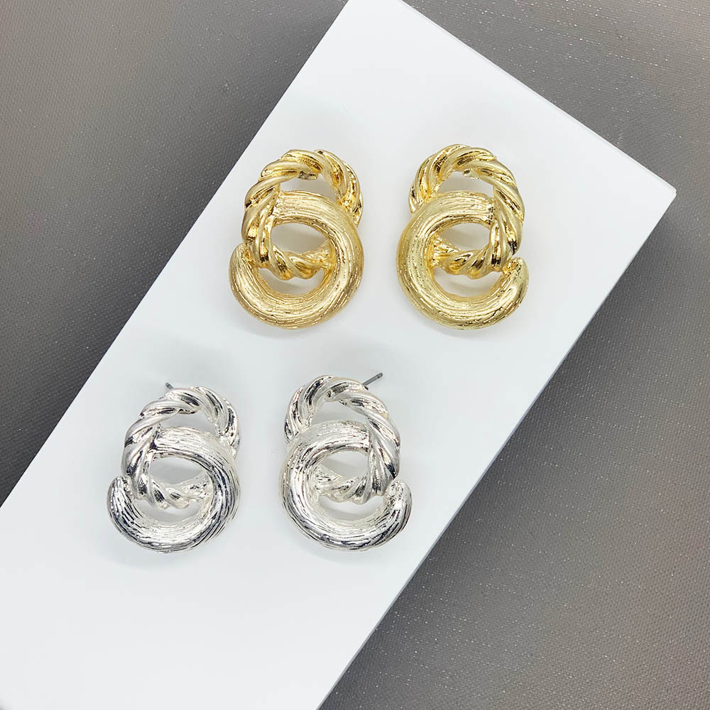 케이제이아스타 귀걸이 투링트위스트 매듭 체인볼드이어링 DC_0169 2종택1 KJE0543/헤어머리끈 사은품랜덤증정