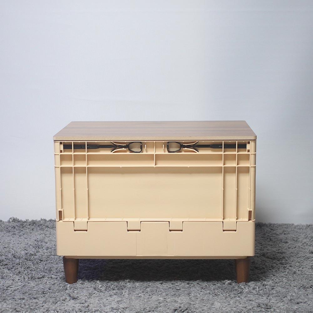 미니브랜드 캠핑 폴딩박스 원목 상판 기본형