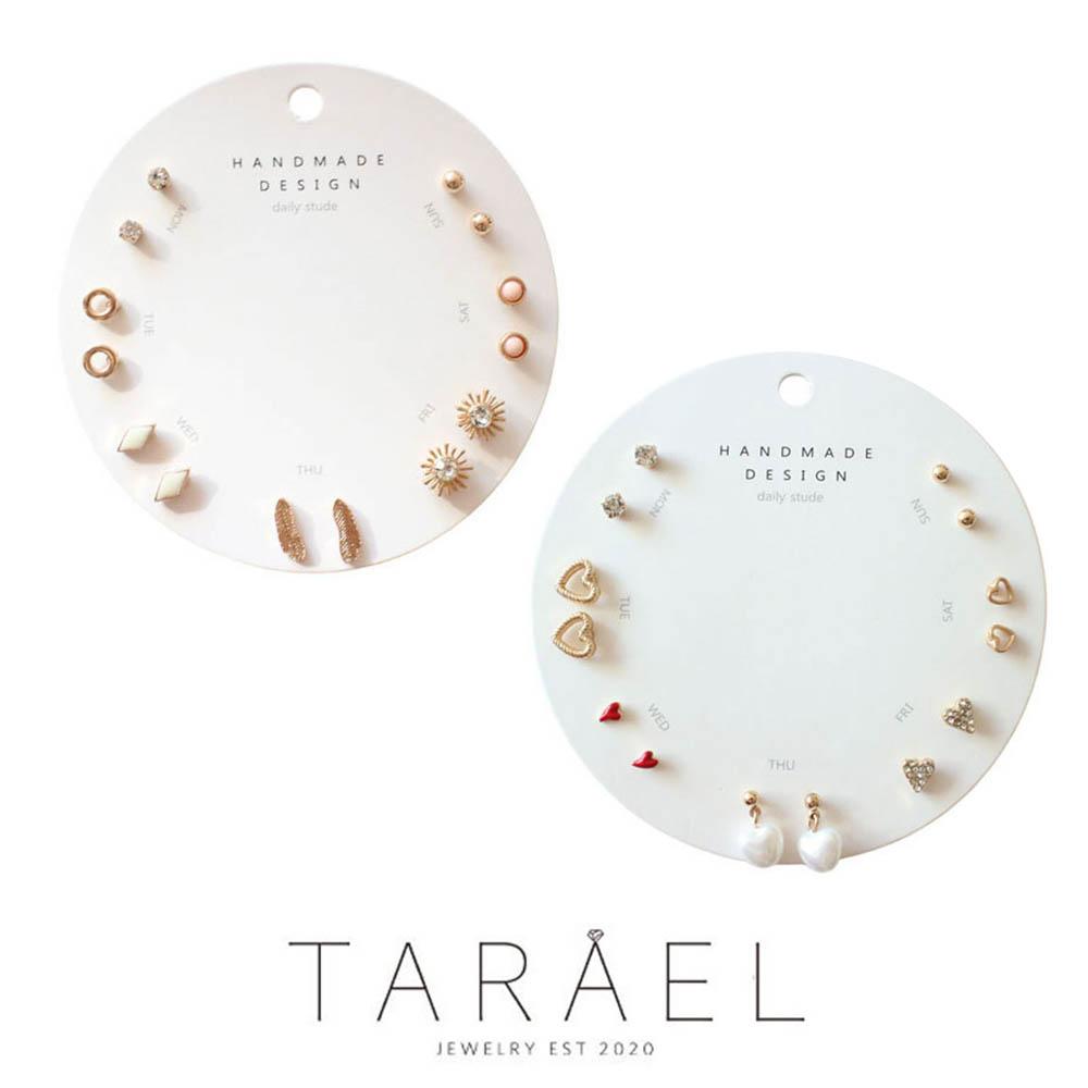 [할인이벤트]타라엘 데일리 심픙 일주일 명품 귀걸이 1+1(A타입+B타입)