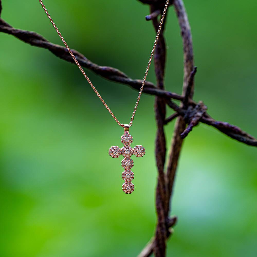 케이제이아스타 데일리 큐빅 십자가목걸이 KJE0801/헤어머리끈 사은품랜덤증정