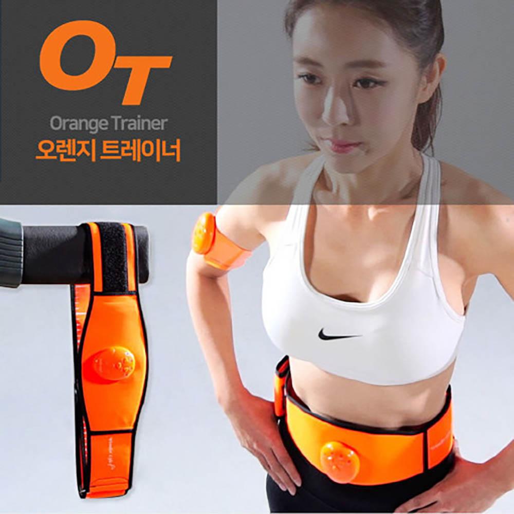 오렌지 트레이너 EMS운동기 복부뱃살 허리마사지