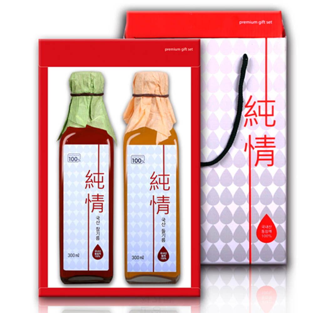 국산순정참기름/들기름세트(300ml*2)