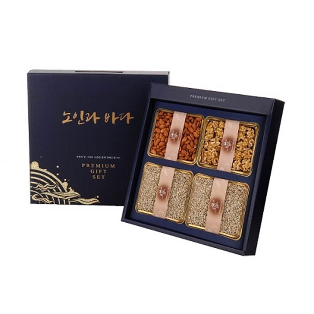 노인과바다 견과특선 1호 / 아몬드300g, 호두200g, 해바라기씨300g×2ea