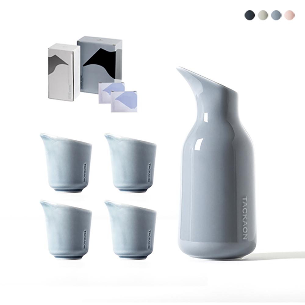 탁가온 주병1pc+술잔 4pcs+선물용 패키지 포함