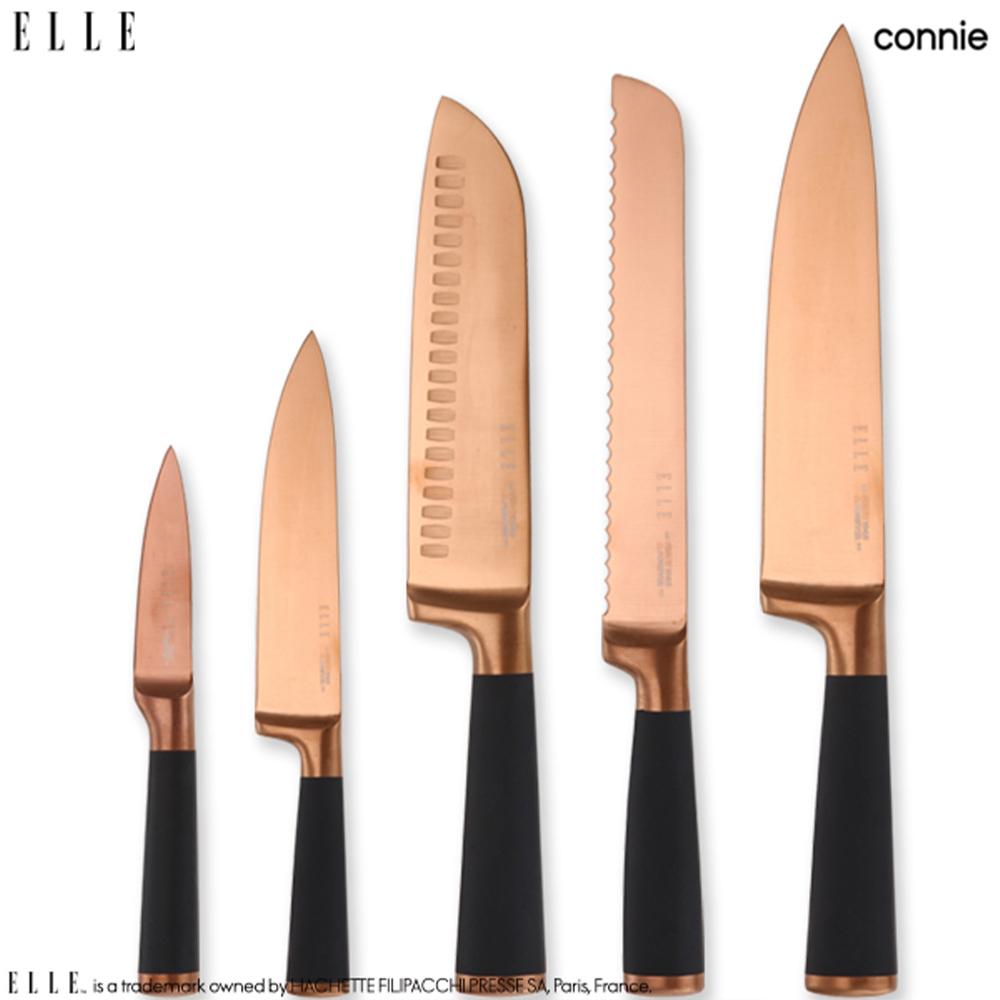 [엘르] 코니 티타늄 코팅칼 5종세트(블랙에디션)