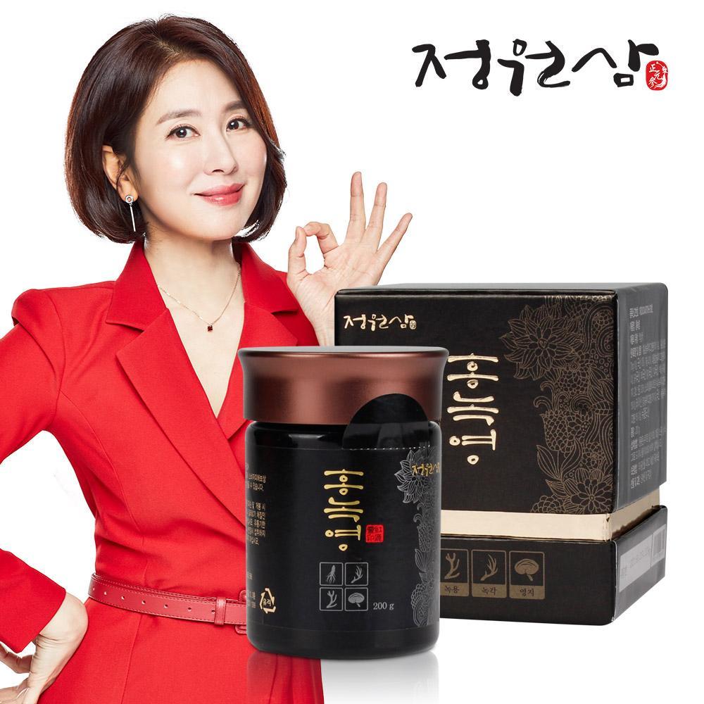 정원삼 홍녹영 200g+쇼핑백(홍삼, 녹용, 영지)