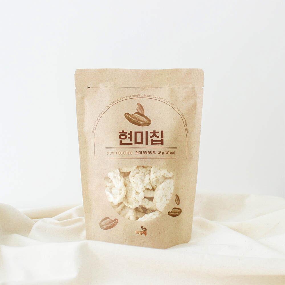리얼꼬솜 현미칩 35g x 12개입