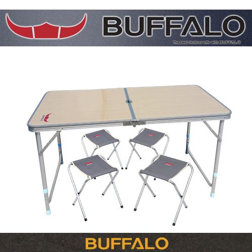 버팔로 아파치 2폴딩 캠핑 테이블 5종세트 (높이조절가능)
